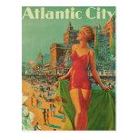 Voyage vintage ; La station de vacances d'Atlantic Carte Postale