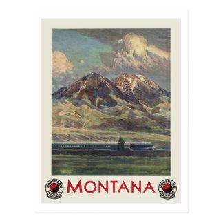 Voyage vintage Montana par chemin de fer Carte Postale