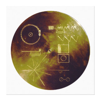Voyager 1 and 2 Golden Record Sounds of Earth Canvas Print