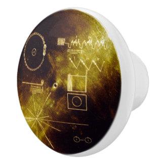 Voyager Golden Record Ceramic Knob