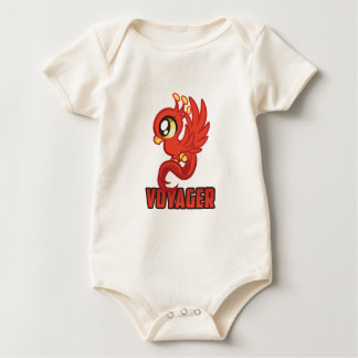 Voyager in the Making One Piece - Red Baby Bodysuit