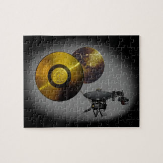 Voyager Spacecraft and Golden Record at 40 Jigsaw Puzzle