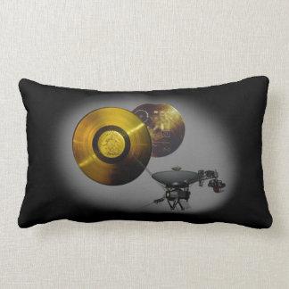 Voyager Spacecraft and Golden Record at 40 Lumbar Pillow
