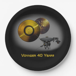 Voyager Spacecraft and Golden Record at 40 Paper Plate