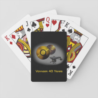 Voyager Spacecraft and Golden Record at 40 Playing Cards