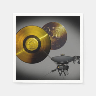 Voyager Spacecraft and Golden Record Paper Napkin