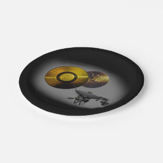 Voyager Spacecraft and Golden Record Paper Plate