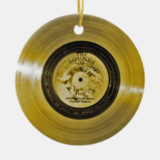 Voyager Spacecraft Golden Record and Cover Ceramic Ornament