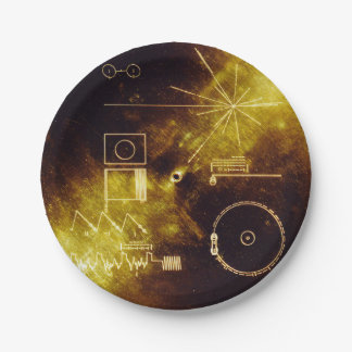 Voyager Spacecraft Golden Record Cover Paper Plate
