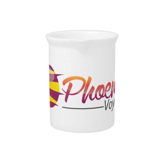 Voyager White Porcelain. Pitcher