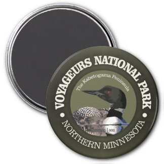Voyageurs National Park (Loon) 3 Inch Round Magnet