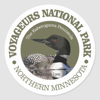 Voyageurs National Park (Loon) Classic Round Sticker
