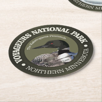 Voyageurs National Park (Loon) Round Paper Coaster