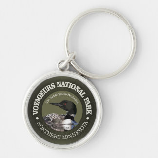 Voyageurs National Park (Loon) Silver-Colored Round Keychain