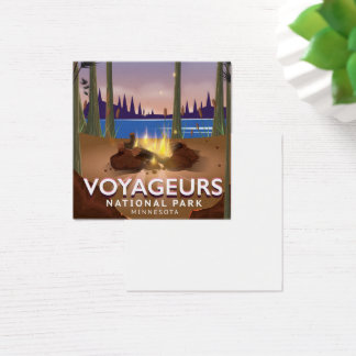 Voyageurs National Park Minnesota travel poster Square Business Card