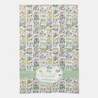 Voysey Apothecary Garden Custom Kitchen Tea Towel