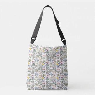 Voysey Apothecary Garden Pattern Crossbody Bag