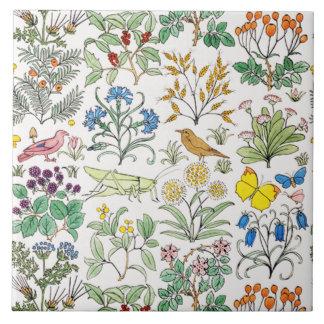 Voysey Apothecary's Garden Art Tile Trivet