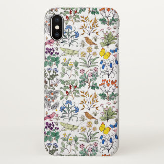 Voysey Apothecary's Garden Pattern iPhone X Case
