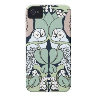 Voysey Art Nouveau Owls Nest Pattern iPhone 4 Case