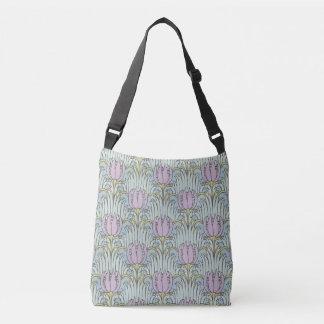 Voysey Bird and Tulip Pattern Arts and Crafts Crossbody Bag