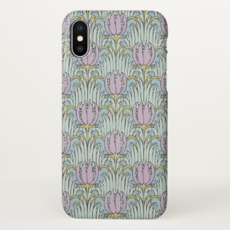 Voysey Bird and Tulip Pattern Arts and Crafts iPhone X Case