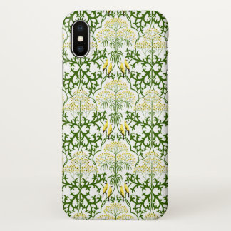 Voysey Fool's Parsley Yellow Birds Arts and Crafts iPhone X Case