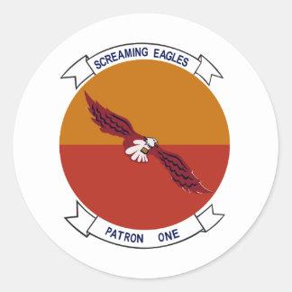 VP-1 Screaming Eagles Classic Round Sticker