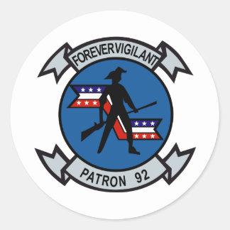 VP-92 Minutemen Classic Round Sticker