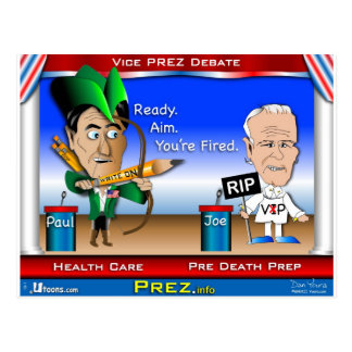 VP Debate 2 Postcard