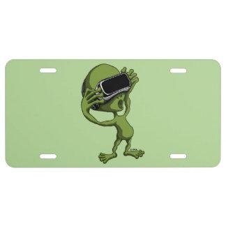 VR Alien License Plate