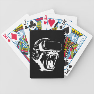VR Gorilla Bicycle Playing Cards