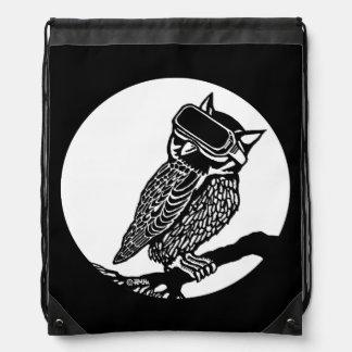 VR Owl Drawstring Bag