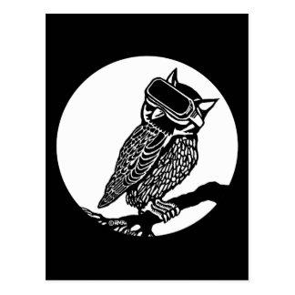 VR Owl Postcard