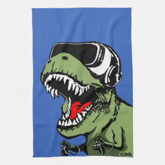 VR T-rex Kitchen Towel
