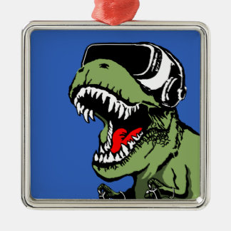 VR T-rex Metal Ornament