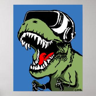 VR T-rex Poster