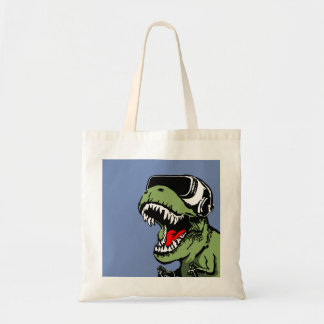 VR T-rex Tote Bag