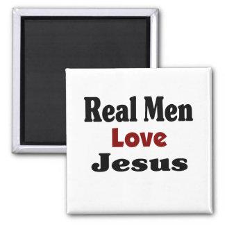 Vrai amour Jésus d'hommes Magnet Carré