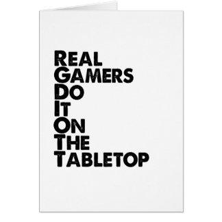 Vrai noir de Gamers Carte De Vœux