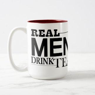 Vrai thé de boissons d'hommes mug bicolore