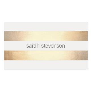 Vraie feuille d'or de *Not rayé simple frais d'or Carte De Visite Standard
