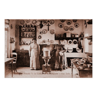 Vraie maison vintage de gaufre belge et de crêpe affiches