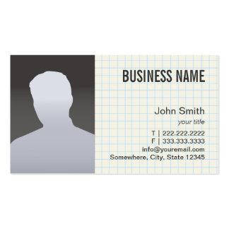 Vraie photo de professionnel d'agent immobilier carte de visite standard