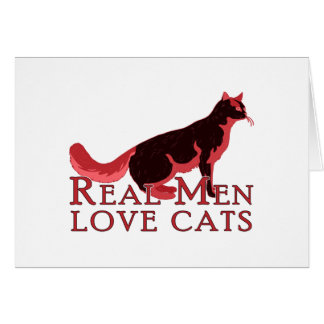Vrais chats 2 d amour d hommes cartes de vœux