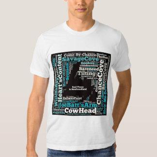 Vrais endroits de Newfie T-shirt