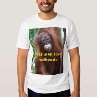 Vrais roux d'amour d'hommes tee-shirts