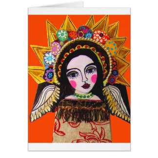 Vrgin of Guadalupe by Heather Galler Card