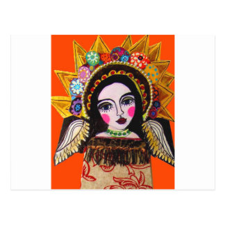 Vrgin of Guadalupe by Heather Galler Postcard