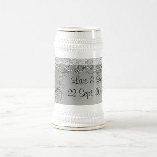 Vrilles de mariage chope à bière